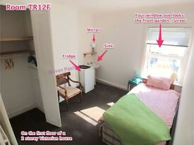 Sunshine Room In Quiet House * Own Fridge & Wash Basin * FREE WiFi * Watch Video Walkthrough  >
