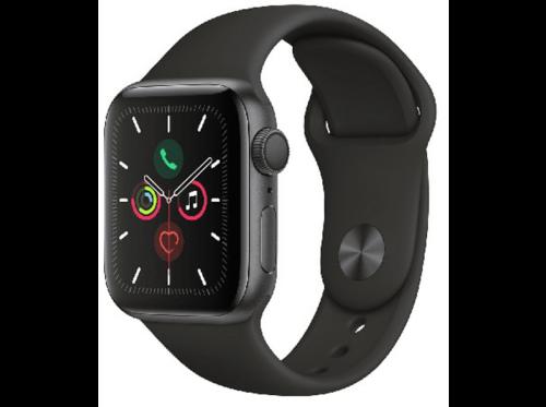 Apple Watch Series 5, Chip W3, 40 mm, GPS, Caja aluminio gris espacial.