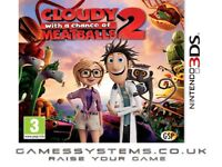 Get Cloudy With a Chance of Meatballs 2 Brand New for 3DS & 2DS for just £5.98p!