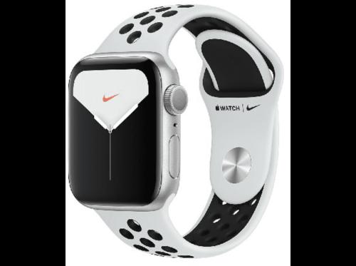 Apple Watch Nike Series 5, Chip W3, 40 mm, GPS, Caja aluminio plata