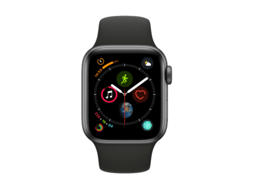 Apple WatchSeries 4 GPS, 40 , Wi-Fi, 4G, LTE, Caja gris espacial  negra