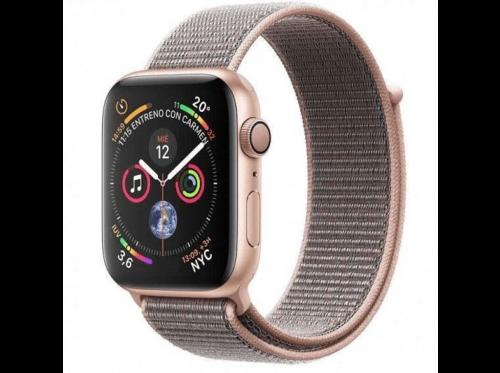 Apple Watch Series 4 GPS, 44mm, Caja de Aluminio Dorado, Correa dep. Rosa arena