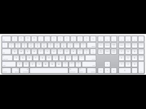 Apple Magic Keyboard, con teclado numérico, Bluetooth, QWERTY Español, Plata