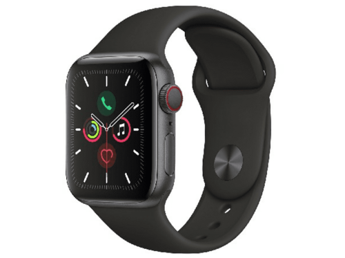 Apple WatchSeries5,40mm,GPS+Cell,Caja aluminio gris espacial,Correa deportiva bk
