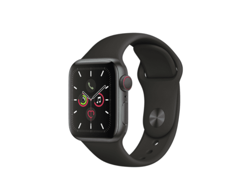 Apple Watch Series 5, Chip W3, 40 mm, GPS + Cellular, aluminio gris espacial