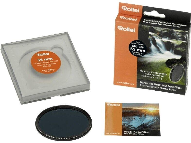 ROLLEI Variabler Profi ND Fotofilter ND2– 400 Filter (55 mm)   Neu & OVP