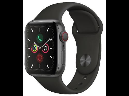 Apple Watch Series 5, Chip W3, 40 mm, GPS + Cellular, Caja aluminio