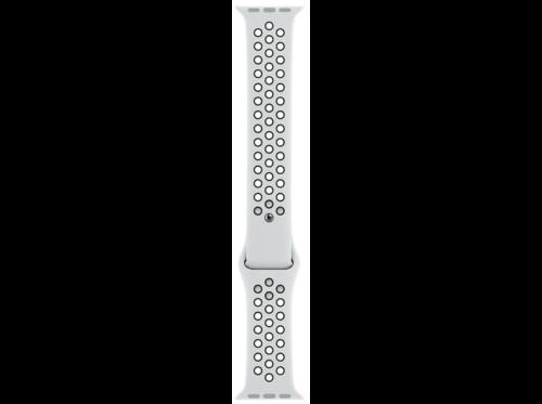 Correa - Apple Watch Nike, Regular, Fluoroelastómero, 44 mm, Platino/Negro