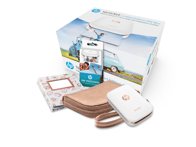 HP Sprocket Limited Edition Gift Box Zink-Fotodrucker Weiß/Rosegold (Z3Z91A)