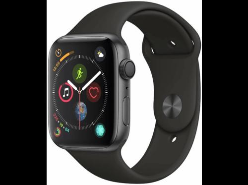 Apple Watch Series 4, 44 mm, Gris espacial, Correa deportiva (Sports Band), 4G,
