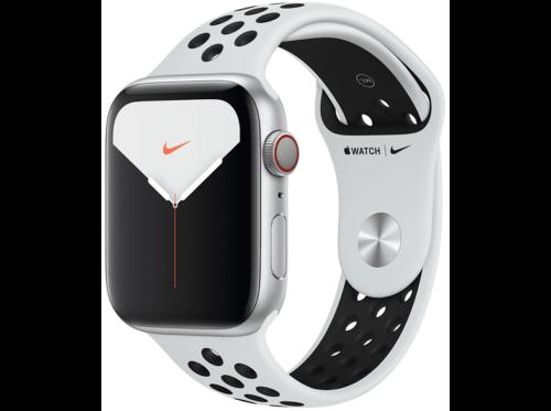 Apple Watch Nike S 5,Chip W3,44 mm,GPS+Cellular,alum-plata,Correa platino-negro
