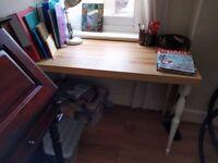 IKEA DESK: TORNLIDEN desk top and white NIPEN legs