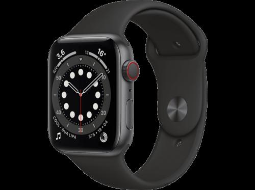 Apple Watch Series 6, GPS+CELL, 44 mm, Caja de aluminio en gris espacial, Correa