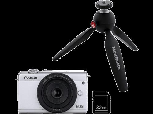 Cámara EVIL - Canon EOS M200, M15-45 SL, 24.1 megapixel, Pantalla 7.5 cm,