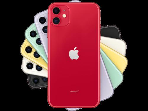 "Apple iPhone 11, Rojo, 64 GB, 6.1"" Liquid Retina HD, Chip A13 Bionic, iOS,"