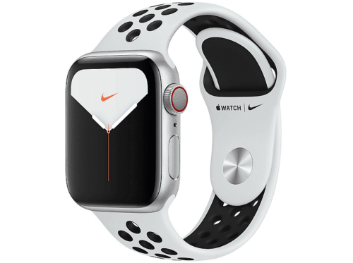 Apple Watch Nike™ Series 5 Chip W3 40 mm GPS + Cellular Correa Nike™ platino/negro