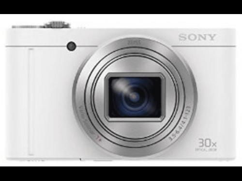 Cámara - Sony DSC-WX500 Blanco, WiFi, NFC, 18.2Mp, zoom óptico 30x