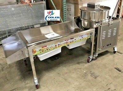 New 90 Quart Kettle Corn Making Machine Commercial Gourmet Popcorn Vending