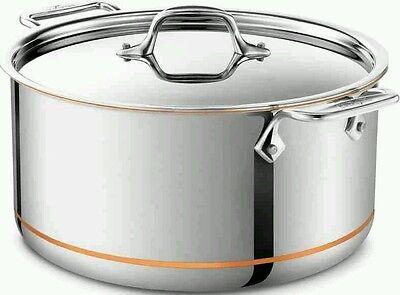 All-Clad Copper Core 8 Quart Stock Pot with Lid **BRAND NEW** All Clad 8 Quart Stock Pot