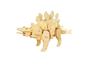Sound Control Dinosaur 3D Wooden Puzzle Stegosaurus Model Puzzle Kit Craft Toy