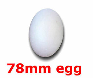 5 POLYSTYRENE STYROFOAM FOAM EGGS 78MM  EASTER CRAFTS solid egg