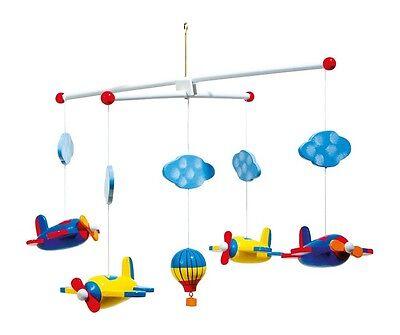 Mobile Luftfahrt Holz für Kinder Babys Babymobile Kindermobile Flugzeuge Neu