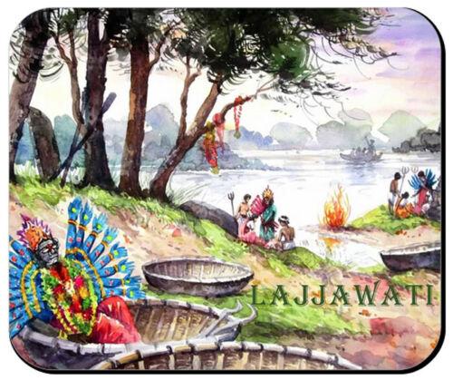 """""""Dawn: After Sura Samhara Night"""" MOUSE PAD From a Watercolor for LAJJAWATI"""