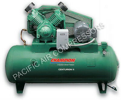 Extreme Duty Champion Compressor 10 Hp 120 Gal 3 Phase 230 Volt