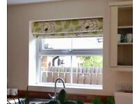 Floral Hillarys Roman Blind 120cm wide. With fixings.