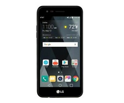 LG Phoenix 3 4G LTE w/ 16GB Memory ATT Prepaid Cell Phone Black (Unlockable)