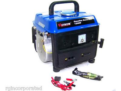 New 1200 Watt Portable Gasoline Electric Gas Generator Power 2 Stroke RV Camping