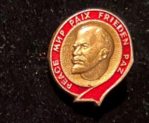 Vintage Soviet Russian USSR Communist Lenin Peace Mip Paix Frieden Paz