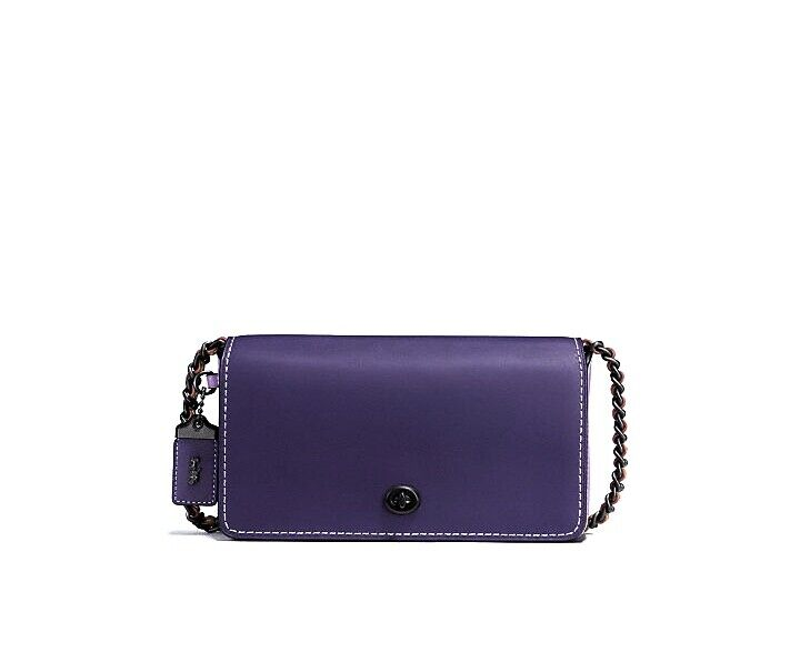 NWT Coach 1941 DINKY Purple Colorblock Glovetanned Leather C