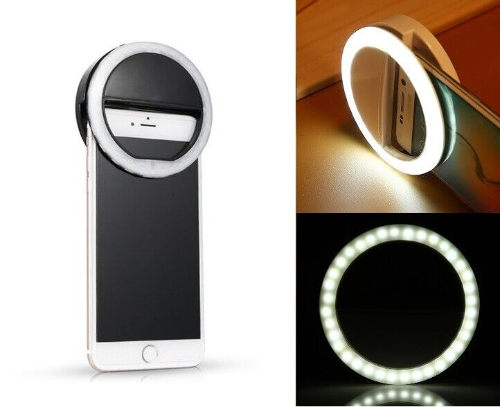 36 LED Light Selfie Ring Flash Portable Universal Clip On iPhone Samsung LG Cell Phone Accessories