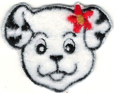 (Cartoon Dalmatian w/ Flowers Embroidery Patch)