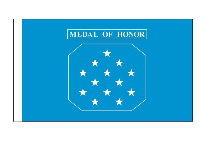 Congressional Medal Of Honor Flag    3'x5' Made in America with Brass grommets
