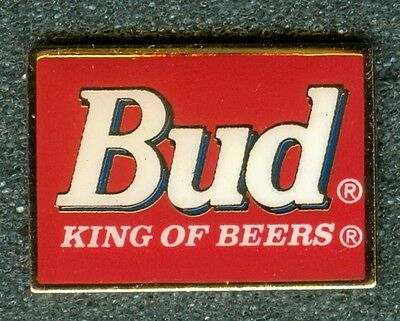 Vintage Budweiser Bud Red Label King of Beers Collectors Pin New