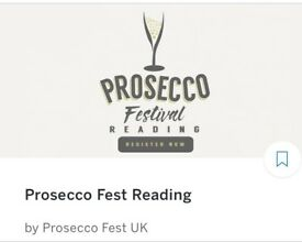 X2 Tickets Prosecco Fest Sat 23rd Reading