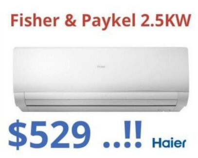 ***Fisher & Paykel 2.5KW Split System Air Conditioner*** Just $529 !!