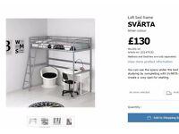 IKEA Loft bed frame SVÄRTA Silver-colour