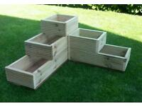 Planter, High Quality 3 Tiered Corner Planter Pressure Treated Decking Timber. Brand New.