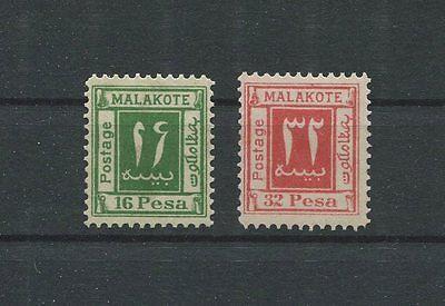 DT. KOLONIEN MALAKOTE 16 + 32 PESA 2 unverausgabte Werte (*) m335
