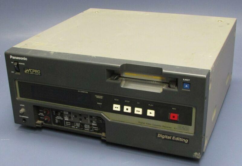 Panasonic DVCPRO Digital Editing Video Cassette Recorder AJ-D650