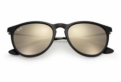 Ray Ban Erika RB4171 601/5A Sunglasses Black Gunmetal Gold Mirrored Lenses 54mm