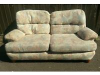 Beautifully patterned second hand sofa