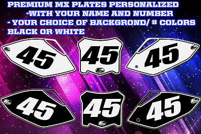 Suzuki Rm 125-250 01-12 Custom Pre Printed Number Plate Backgrounds