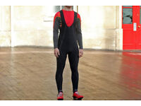 Funkier Active Winter Thermal Microfleece Bib Tights In Black Size S