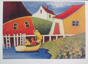 Colourful Limited Edition Lithograph Print by Carol Ann Shelton!