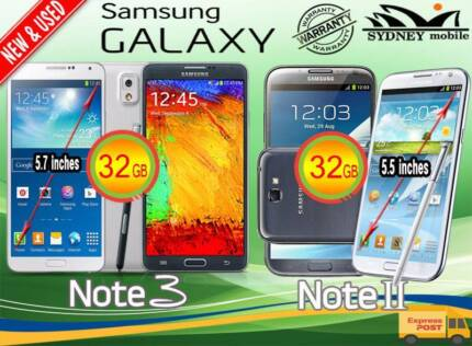 New and Used Samsung galaxy Note3 & NOTE2 32GB 4G Network