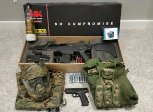 Complete Set of Airsoft Equipment